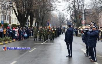 Defilare Ziua Nationla a Romaniei la Tecuci 20172