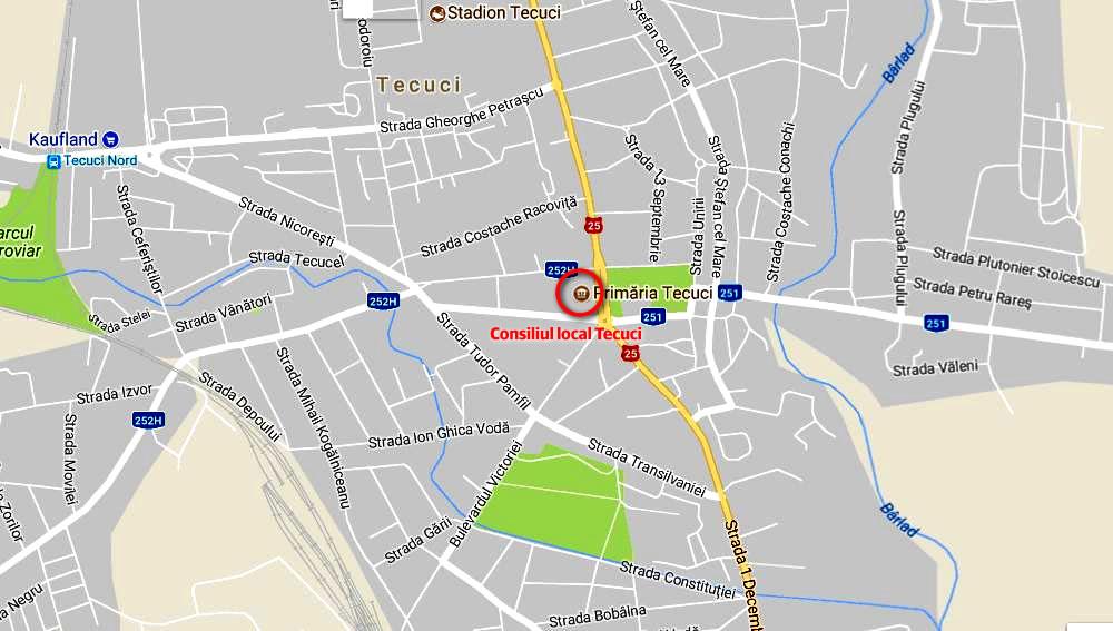 Harta Tecuci stradal
