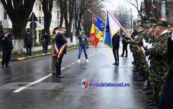 Hurdubae onorul la drapel Ziua Nationla a Romaniei la Tecuci 2017