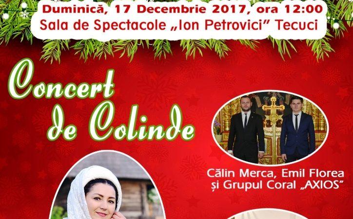 Concert extraordinar de Colinde, duminică, 17 decembrie