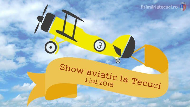Show aviatic la Tecuci