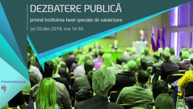 Dezbatere publica instituirea taxei salubrizare