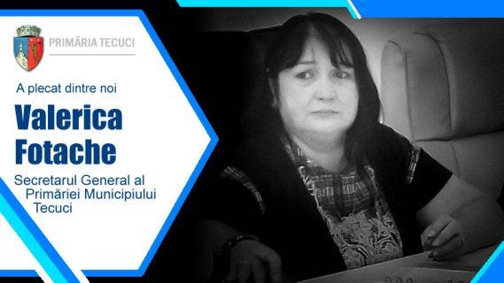 A murit Valeriva Fotache Secretarul Primariei Municipiului Tecuci 2020