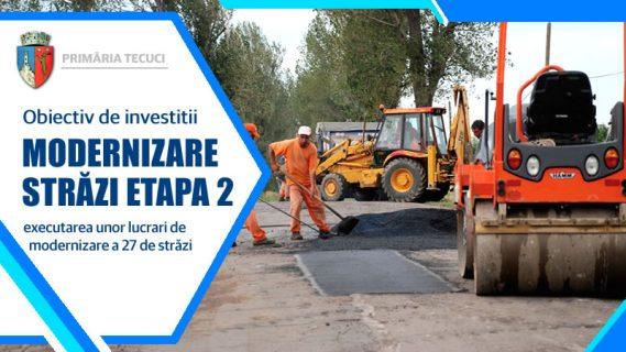 Modernizare străzi Etapa 2 Tecuci 2020