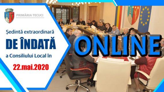Sedinta consiliului local mai 2020 Tecuci