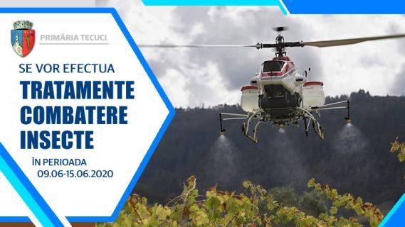 Tratamente combatere insecte Tecuci 2020