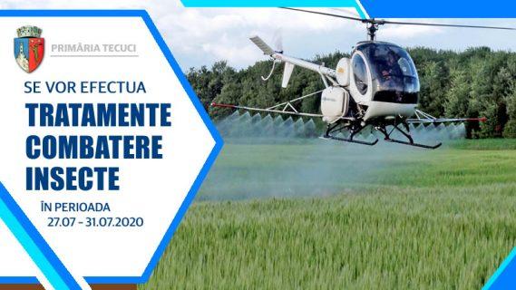 Tratamente combatere insecte iulie 2020 in Tecuci