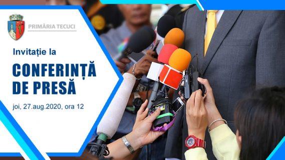 Invitatie la Conferinta de presa 2020