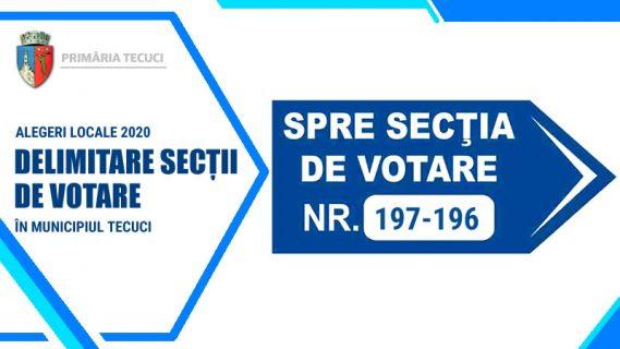 Delimitare sectii votare alegeri locale 2020 Tecuci