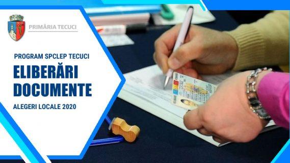 Program SPCLEP Alegeri locale Tecuci 2020