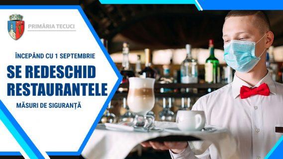 Se redeschid restauranteleTecuci 2020