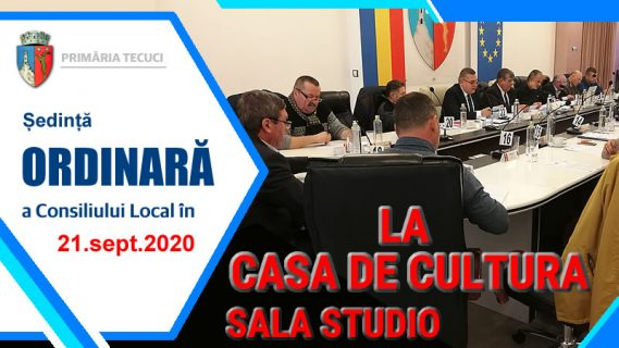 Sedinta ordinara consiliul local sept 2020 Tecuci