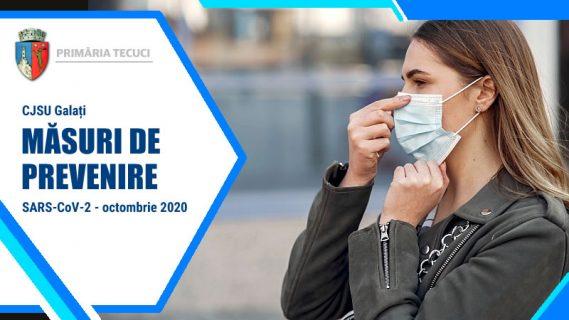 Masuri de prevenire SARS COV2 Tecuci 2020