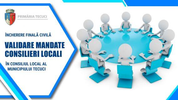 Validare mandate consilieri locali municipiul Tecuci 2020