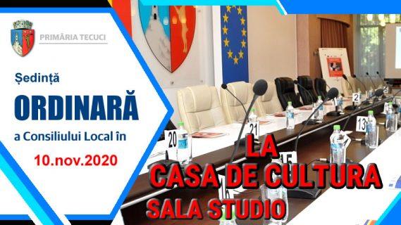 Sedinta ordinara consiliul local nov 2020 Tecuci