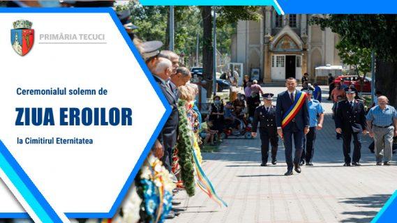 Ziua Eroilor ceremonial Tecuci 2021