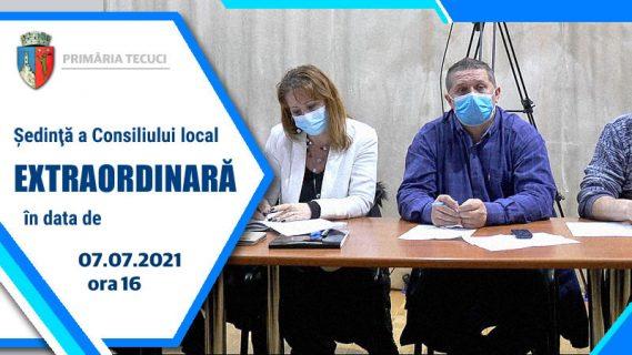 Sedinta extraordinara CL Tecuci iunie 2021