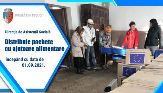 Distribuire ajutoare sociale alimente 2021 Tecuci